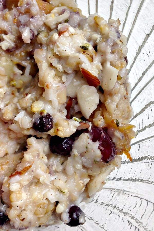 Steel Cut Oats with Dried Fruit and Nuts | reluctantentertainer.com