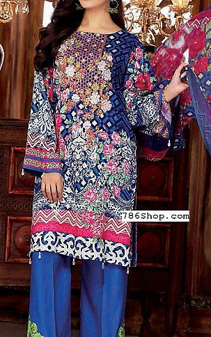 Royal Blue Linen Suit | Buy Maya Pakistani Dresses and Clothing online in USA, UK