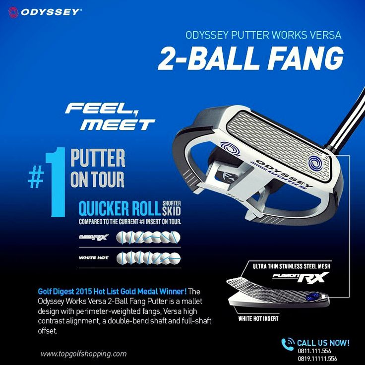 Odyssey Putter Works Versa 2-Ball Fang only at www.topgolfshopping.com free shipping (Indonesia)