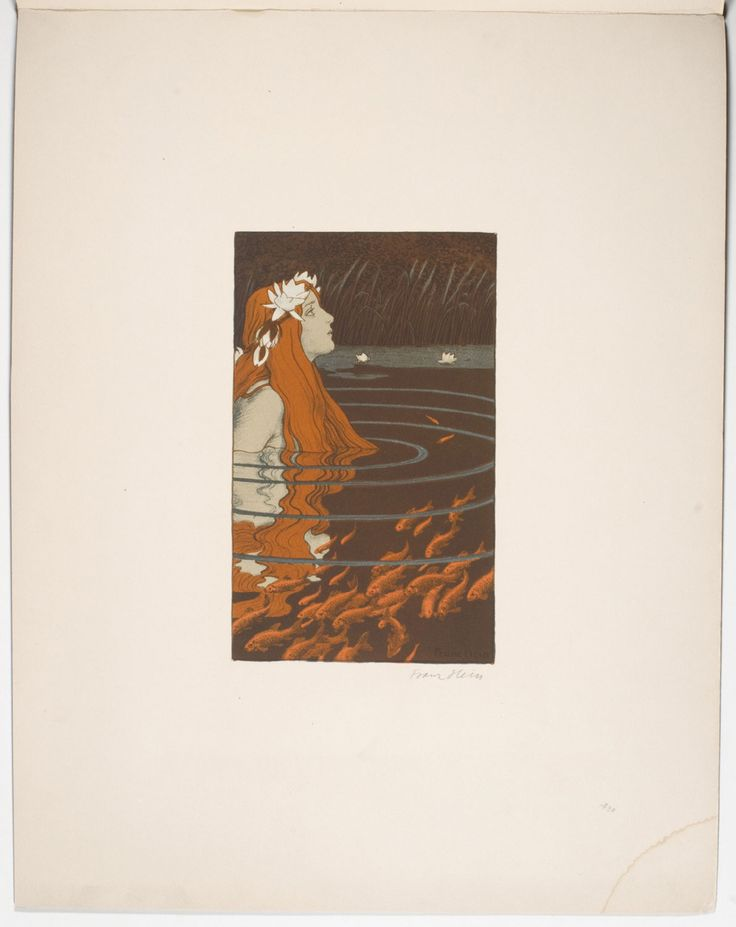 Franz Hein- Mermaid in a Pool with Goldfish (Nixe im Goldfischteich), 1904