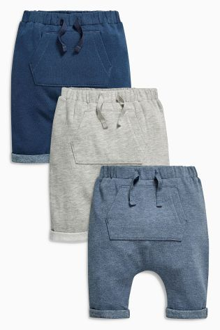 Buy Grey/Navy/Blue Joggers Three Pack (0mths-2yrs) online today at Next: Sweden
