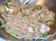 Pad Thai. I've made this recipe (and maaaany others) over the years, and this is by FAR the closest to anything you'll find in a restaurant. Delish!