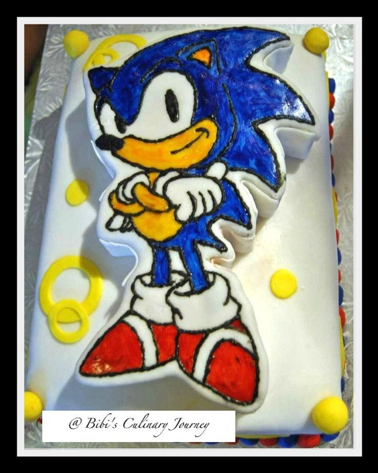 Sonic The Hedgehog Birthday Cake with instructions