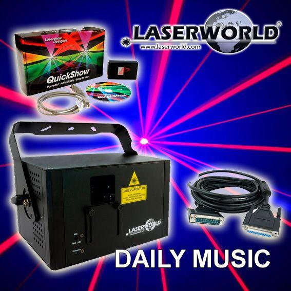 Laser Multicolore Laserworld - CS-1000RGB MKII PACK2   Pack comprenant 1 LASER Laserworld CS-1000 RGB mkII + 1 logiciel Pangolin Quickshow + 1 câble ILDA de 10m, un pack idéal pour créer votre propre show LASER ! http://www.dailymusic.fr/pack-jeux-de-lumiere/laser-multicolore-laserworld-cs-1000rgb-mkii-pack2-p-21277.html