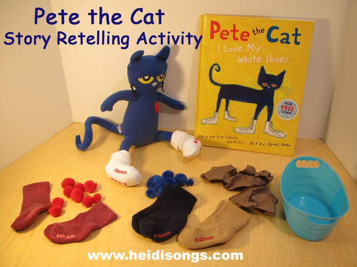 Pete the cat story retelling activity
