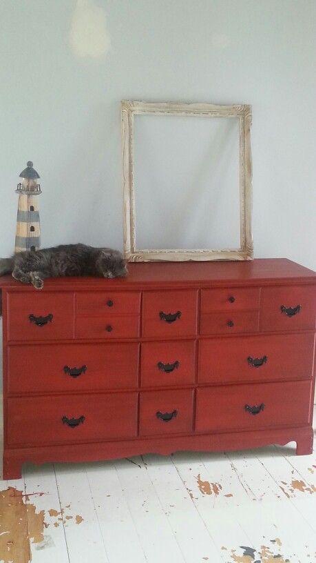 Bureau repeints avec peinture a la craie meubles for Decaper meuble peint