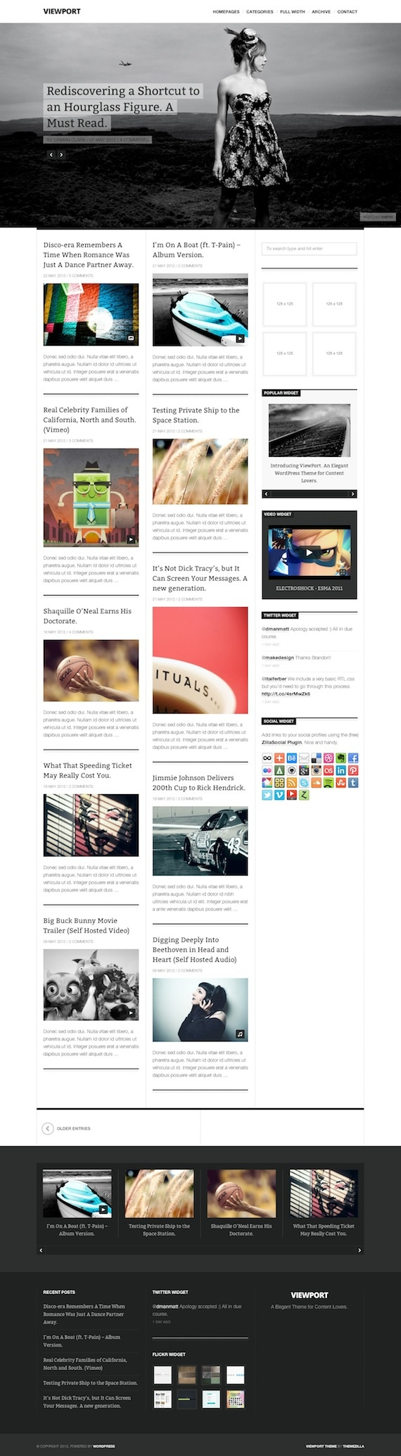 A clean and elegant WordPress theme for blogs and magazines by Themezilla founder Orman Clark.