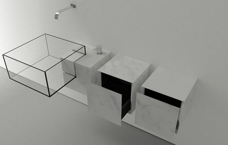 Wireframe Wash Basin: Minimalist Result Kinds Invisible Sink | 2014 interior design article