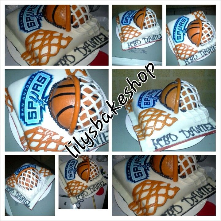 29 San Antonio Spurs Cakes Images Pinterest Biscuits Basketball Cake