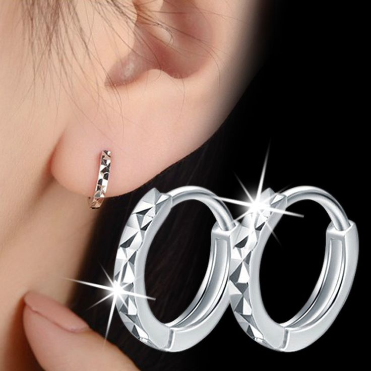 2016 explosion models silver plated earrings m word classic female models flower ear jewelry manufacturers, wholesale gift