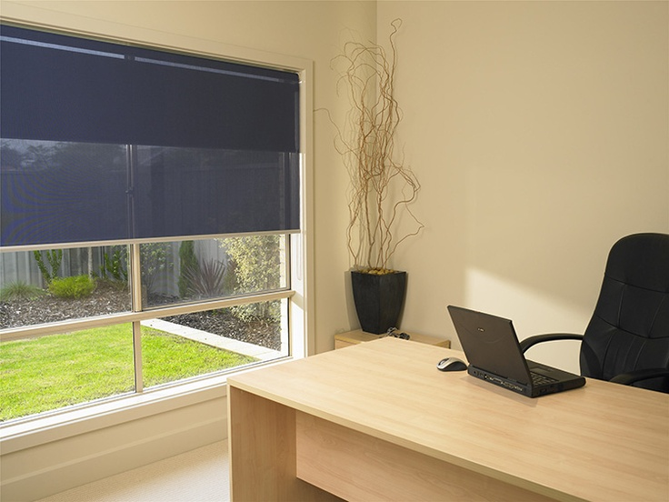 Good Double roller blind with the blockout closest to the window pane and sun screen on the