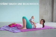 """Übung Workout """"Das Mama-Workout"""" für Ab Woche 10 nach der Geburt - hier Schritt für Schritt das Workout in einzelnen Übungen"""