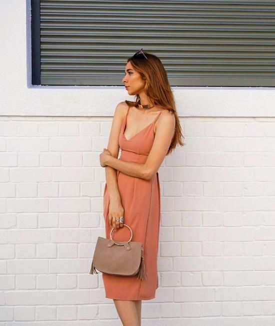 Harvey The Label / SUN SEEKER DRESS BLUSH COLOUR - Akagu
