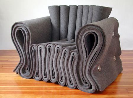 Comfy.    Felt Chair  Creative chair designed by Lothar Windels from Munich, Germany
