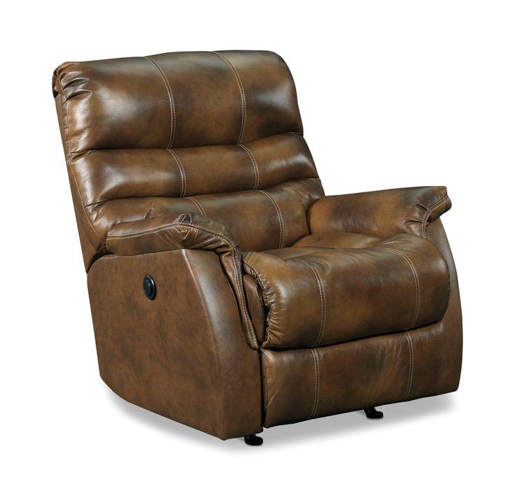 Garrett Leather Power Rocker Recliner Hom Furniture