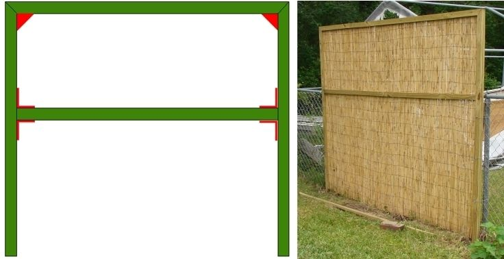 Cane Room Divider Screens