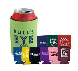 Perfect for beach trips, picnics, tailgates and sporting games, this collapsible beverage insulator features a cloth exterior with felt-lined interior and comes available in a wide variety of colors.