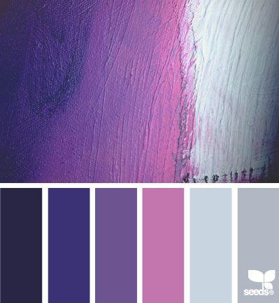 Brushstroke Purples - http://design-seeds.com/index.php/home/entry/brushstroke-purples
