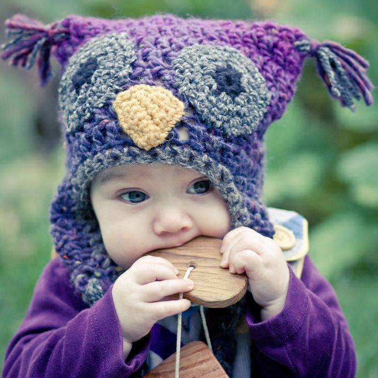 Owl hat pattern gorro búho hermoso