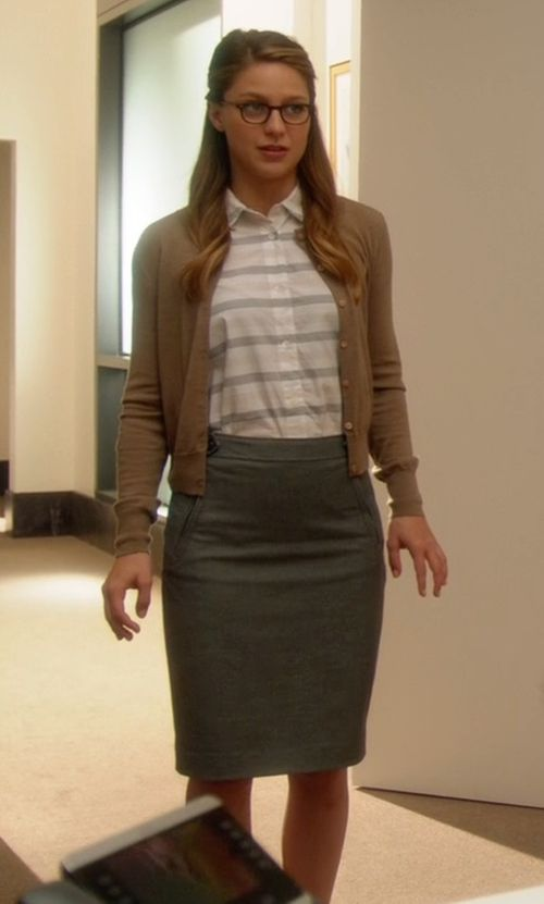 Lord & Taylor Knit Pencil Skirt inspired by Kara Danvers/Supergirl in Supergirl | TheTake.com