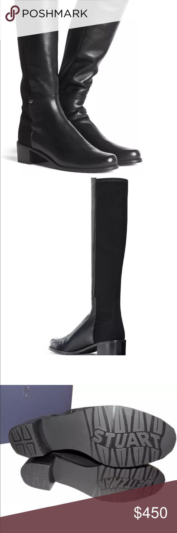 Stuart Weitzman 5050 Boot Brand new without box. Some folding on the leather from storage and tried on couple times at home. No wear on the bottom. This boot fits so well that makes your legs slim. Very classic boot. Stuart Weitzman Shoes