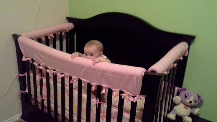 DIY Crib Protector! All you need is pool noodles and fabric!