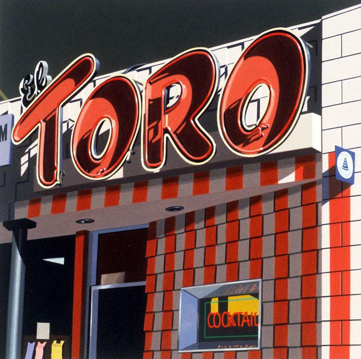 """""""El Toro"""" Robert Cottingham - Louis K. Meisel Gallery"""