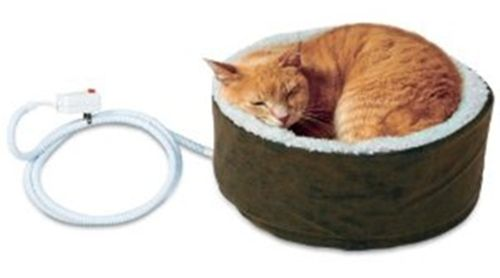 Heated Cat Beds, Buy A Heated Cat Bed, or Cat Heating Pad For Indoor or Outdoor Cats this winter! Find out which are best and why Vets recommend them to ease aches and pains and even to boost your cat's immune system.