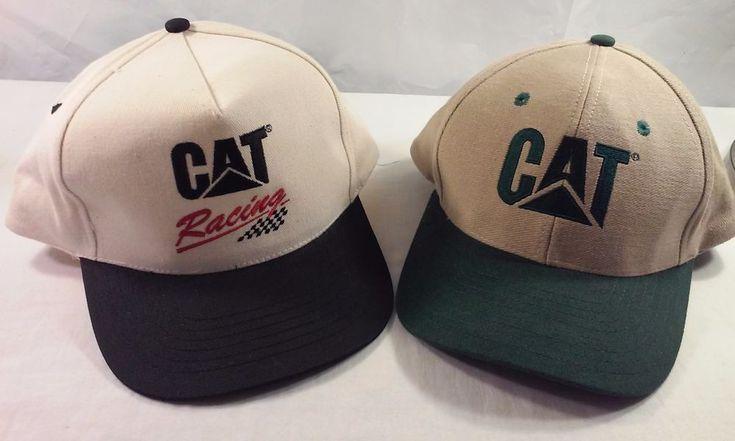 CAT & CAT Racing Snap-back Baseball / Trucker Caps Lot of Two  #Cat #BaseballTruckerCap