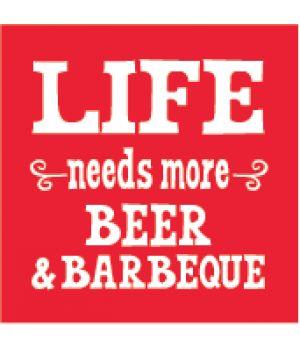 Beer  BBQ Beverage Napkins #Barbecue