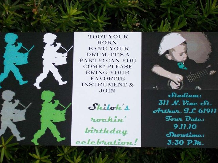 Shiloh's Mod Music Birthday Party | CatchMyParty.com