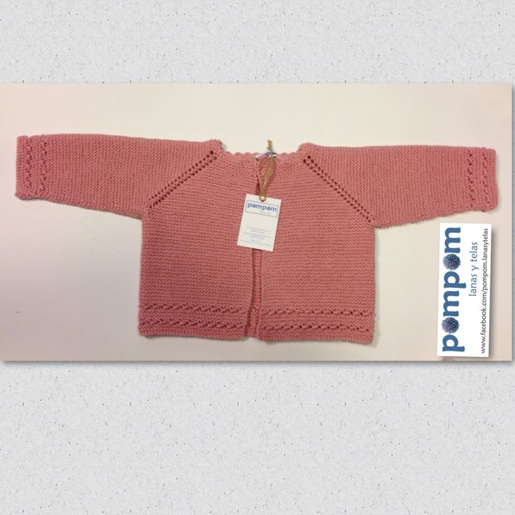 Chaqueta niña rosa algodón.