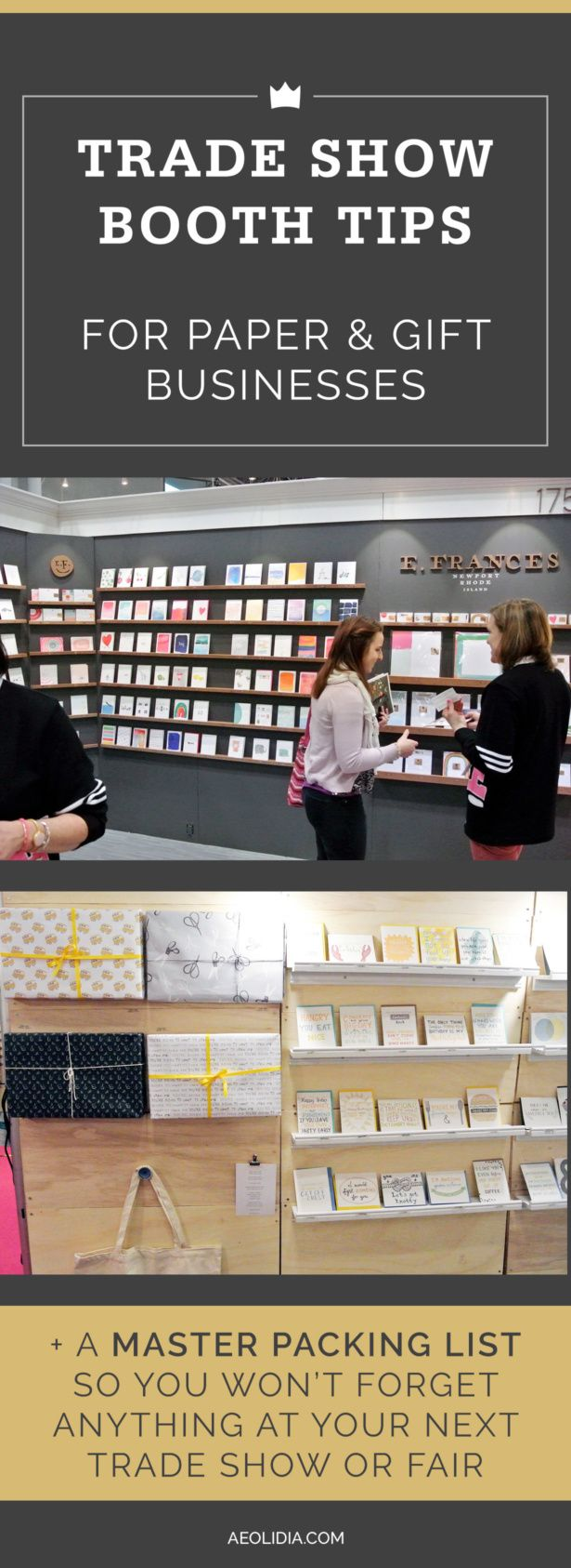 Trade Show Tips for Small Businesses: National Stationery Show Heading to National Stationery Show or NY NOW? Pin these trade show booth tips now!