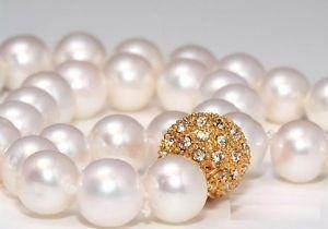 Огромный! Ювелирные изделия ааа + 16 мм юг морские раковины жемчужное ожерелье. Белого замечательный дворянство прекрасно свадебные украшения счастливицы