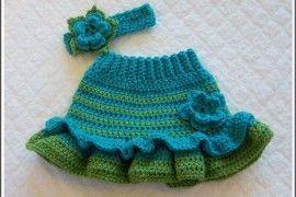 Crochet Baby Skirts