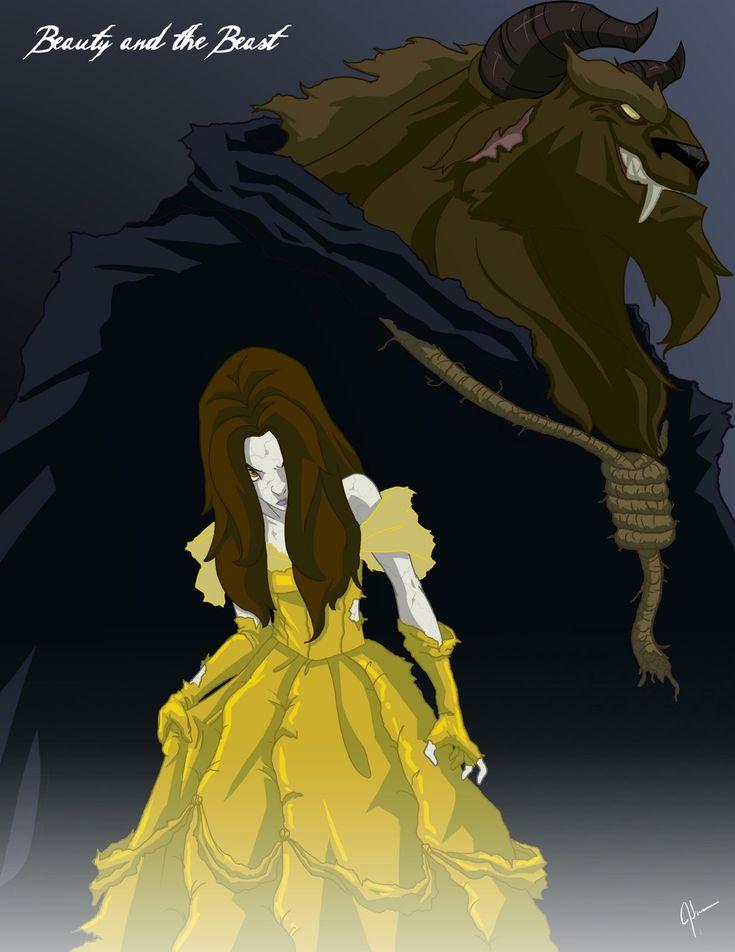 Beauty and the Beast - Twisted Disney Princess Art.