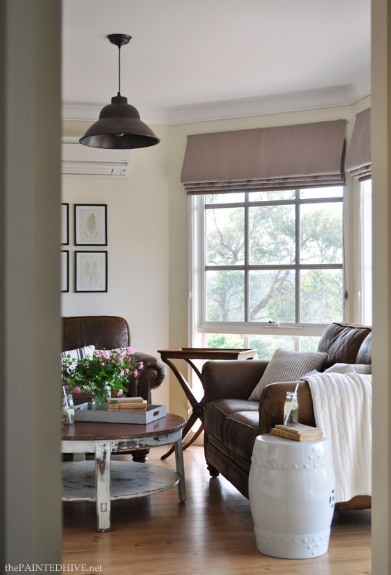 Neutral Country Cottage Style Living Room