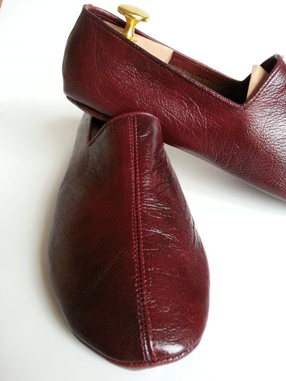 Sufi Leather Slippers Oxblood