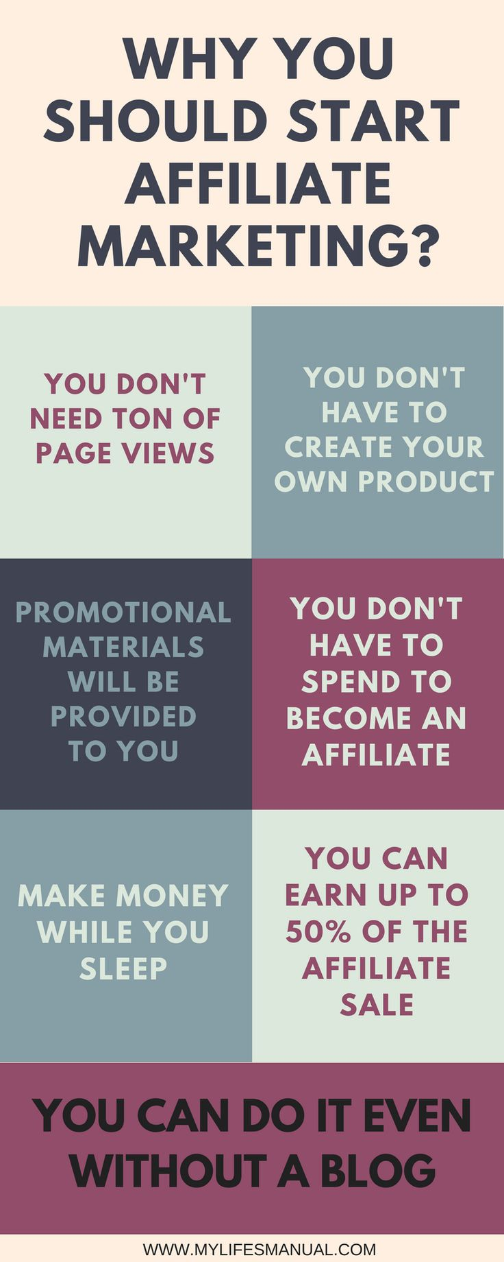 Reasons why new blogger should start affiliate marketing. New bloggers can make affiliate sales without ton of page views. Blogging tips. Make passive income. Make money from your blog. Make money online.