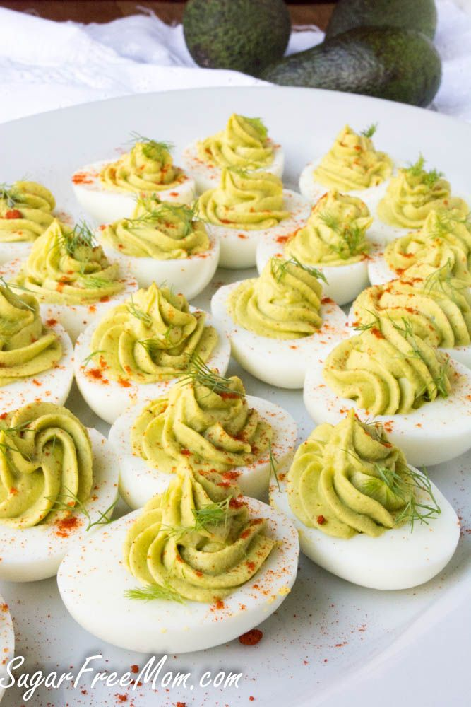 Avocado Deviled Eggs from Sugar Free Mom