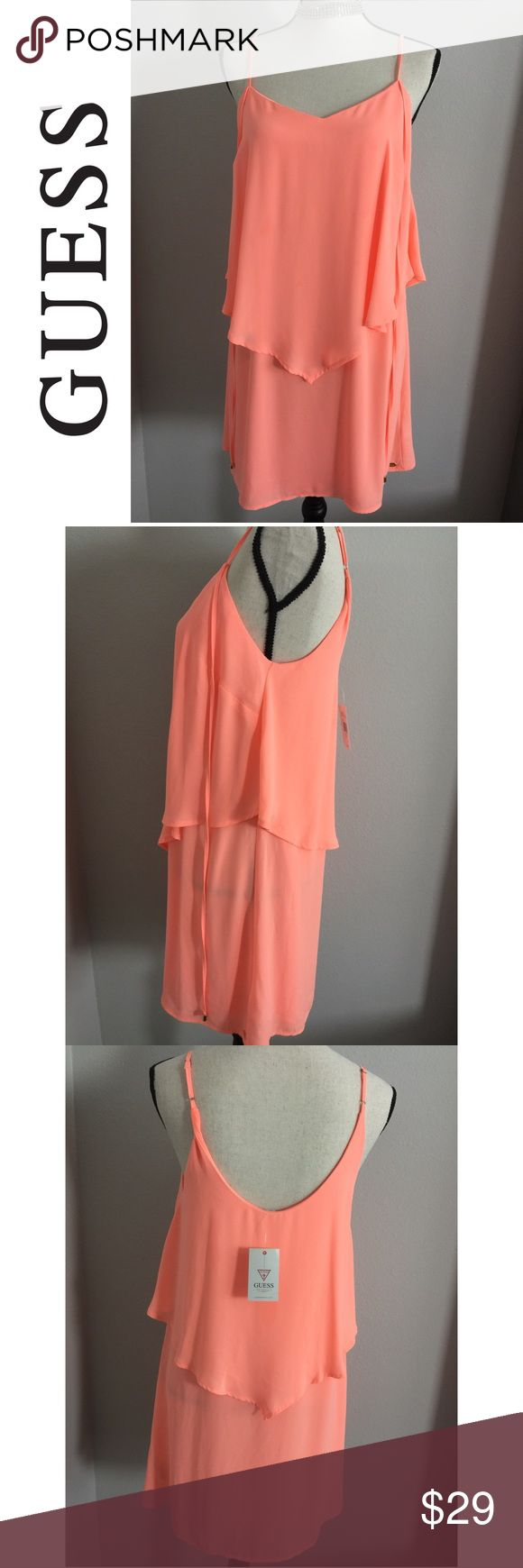 ✨Guess NWT Coral Cute Summer Dress ✨ Brand new With Tags super cute Coral Guess Dress  Size: Small  Awesome bundle deals available !  Fast 24 hour shipping Smoke Free Pet Free Home Guess Dresses Midi