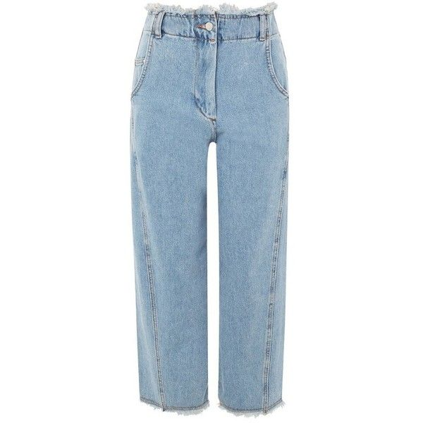 Women's Topshop Boutique Twisted Baggy Fray Jeans ($55) ❤ liked on Polyvore featuring jeans, mid denim, wide leg jeans, high waisted wide leg jeans, high rise denim jeans, high-waisted jeans and relaxed fit jeans