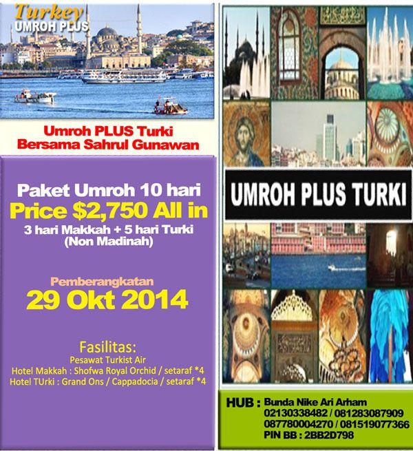 Umroh Plus Turki 2014 | Umroh Sahrul Gunawan | Umroh 2014 http://biayaumroh.org/biaya-umroh-desember-2014