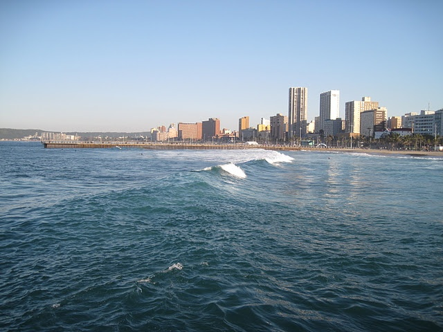 A view of Durban from the ocean