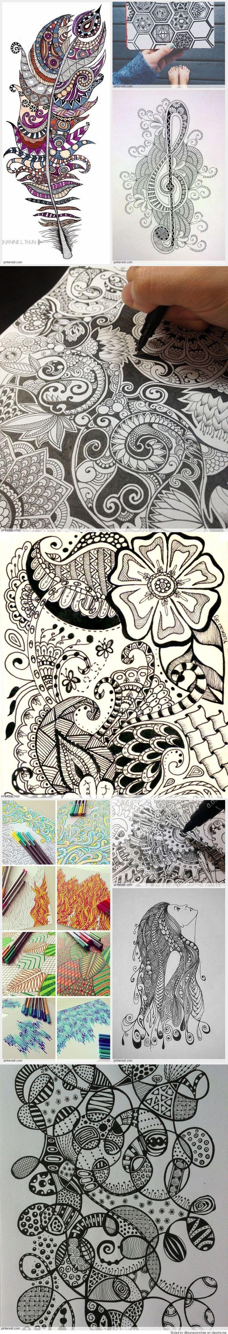 Zentangle Patterns: