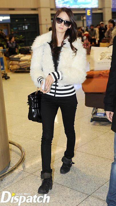 Yoona ; cool airport fashion