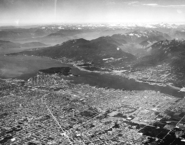 Old Aerial Photo of Vancouver AV-01