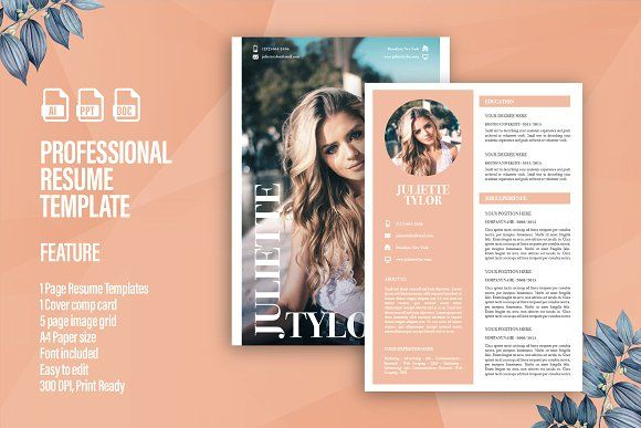 Model Fashion Resume Page Magazin At Least
