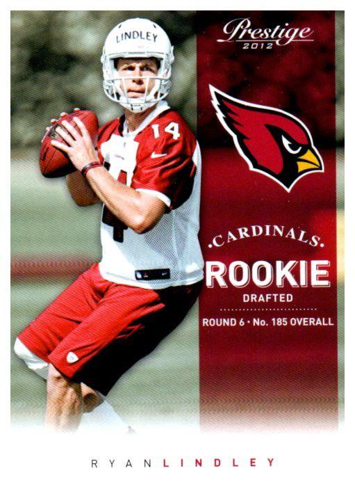 2012 Prestige Ryan Lindley Rookie Card Arizona Cardinals