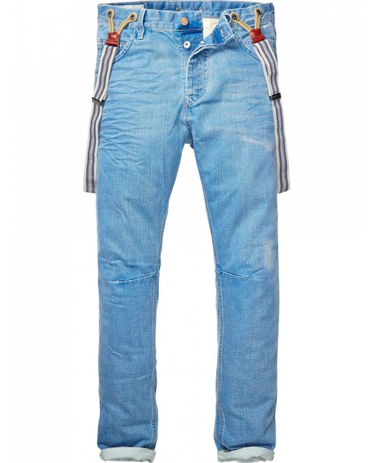Scotch & Soda - Brewer suspender jeans